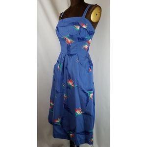 Vintage 60s Paradise Hawaii cotton sun dress S